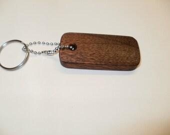 rectangle  key chain  simple Mahogany  scroll saw