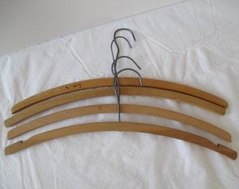 Vintage Wood Hangers - Set Of Four
