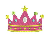 Princess Crown Embroidery Design (537) Instant Download