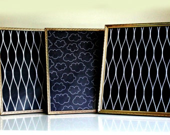 vintage gold metal frames lot of 3