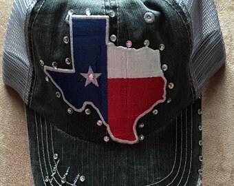 Women's Blinged Texas Trucker Hat
