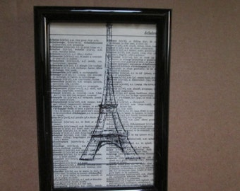 Paris Eiffel Tower Print.
