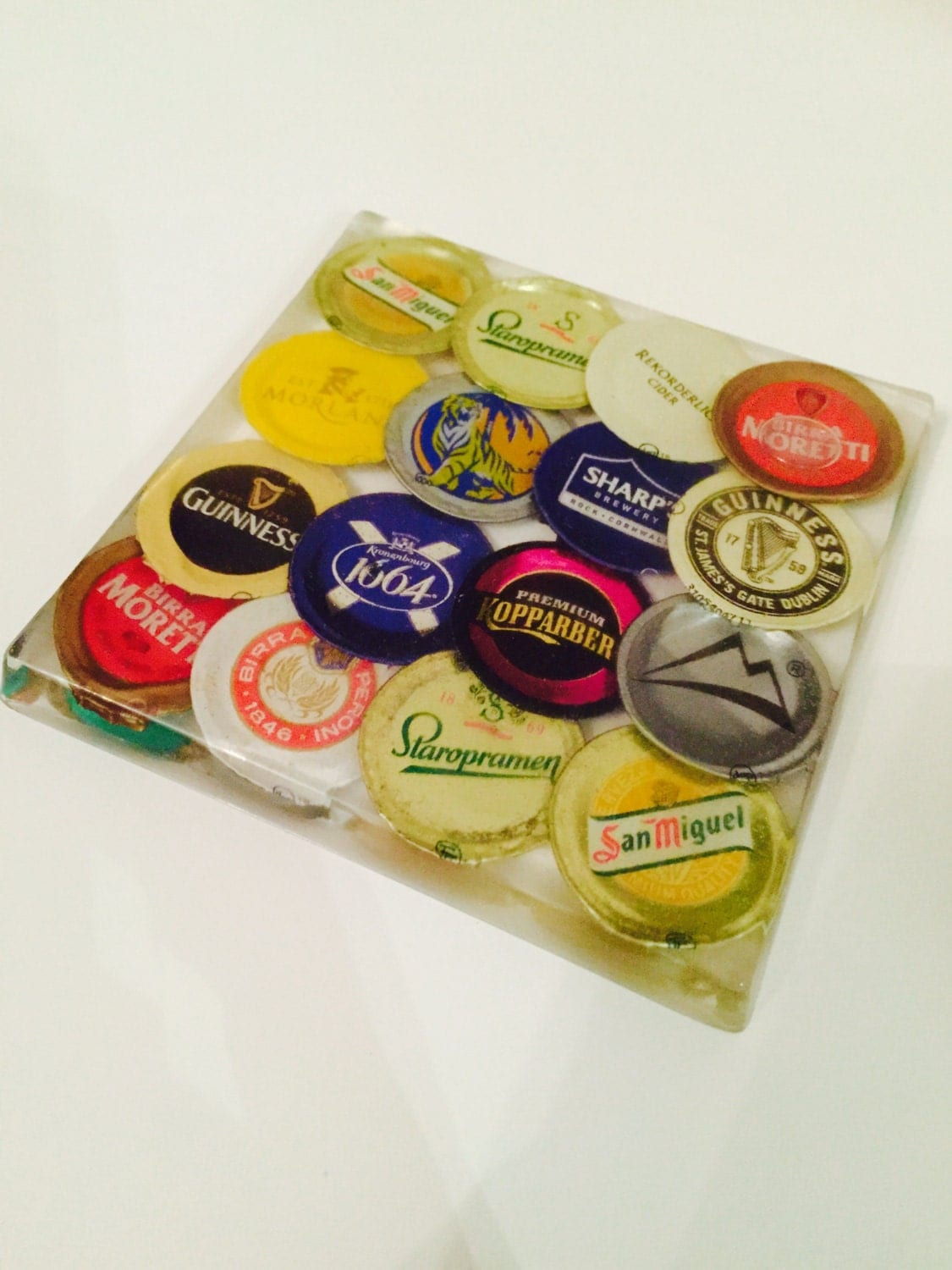 Bottle Top Resin Coaster Resin Coaster Set Drinks Mat Beer