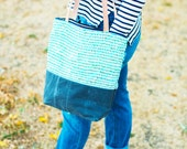 Women's Canvas Tote, Carry On Bag, Zippered Tote Bag, Medium Canvas Bag, Waxed Canvas Tote, Casual Day Tote Bag, Ladies Casual Handbag