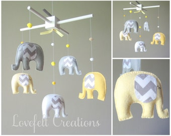 Baby  mobile - Custom Baby Mobile - Elephant Mobile