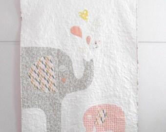 Custom baby crib quilt/baby blanket/Me & my mom quilt/Modern nursery/Nursery bedding/Shower gift idea/Made to order