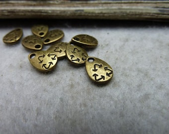 100pcs 7*10mm antique bronze water drop  charms pendant C8004