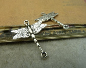 20pcs 23*28mm antique silver dragonfly charms pendant C5017