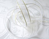 White Gold Edged -- Organza Ribbon 3/8 -- 4 yards -- 9.5mm