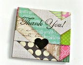 patterned chevron blank handmade mini note cards, envelope style, trifold mini note cards, set of 8 blank chevron thank you notes