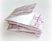 mini note cards blank matchbook style mini cards barnwood pretty pink polka dots 6 handmade matchbook folded note cards lunch box note