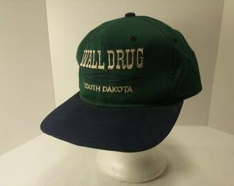 Vintage 1980s Trucker Ball Cap - WALL DRUG South Dakota -  Travel, Souvenir, Rockabilly, Retro, Mens Accessories