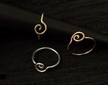 Spiral  nose hoop/tragus/cartilage earring