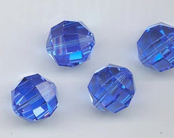 6 rare Swarovski crystals - Art. 5009 - 14 mm - sapphire AB
