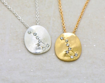 DIPPER Constellation Necklace SILVER or GOLD Little Dipper Constellation Necklace Big Dipper Star Charm Small Charm