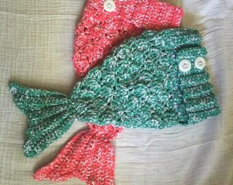Mermaid Tail, Infant Photo Prop, Baby, Newborn, Sea, Ocean, Girl