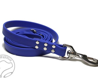 "Genuine Biothane Large Dog Leash // 3/4"" (19mm) Wide // Extra Heavy Duty // Waterproof Strong Dog Leash // Choice of Color and Length"