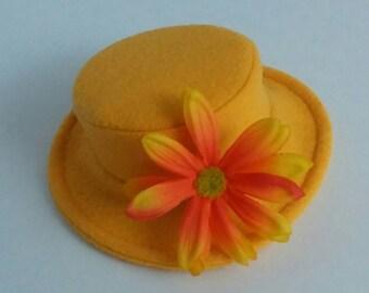 Spring Pencil Yellow Flower Dog Hat - Wedding Hat Dogs - Festive Dog Hat
