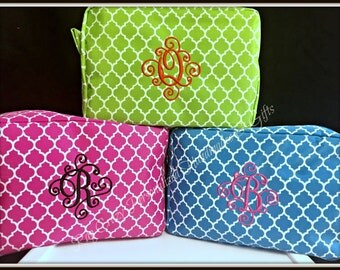 Personalized Makeup bags, Graduation Gift, Monogramed Cosmetic Bag, Bridal Party Gifts, Makeup Bags, Cosmetic Bag