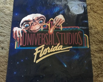 Vintage RARE Universal Studios Florida  E.T. Poster / paper bag 1990 only one