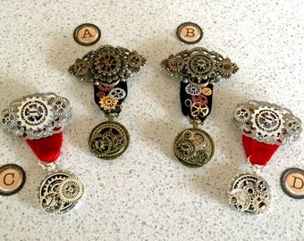 Steampunk Medals of Honor - 4 Styles to Choose From