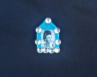 Frida Kahlo and Diego Rivera Mini Shrine retablo magnet