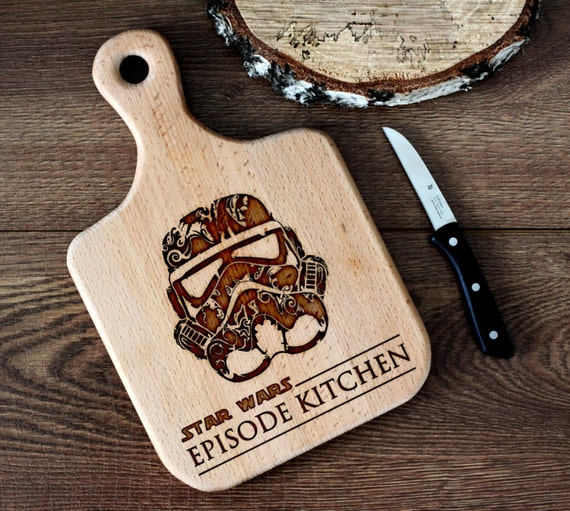 Stars Wars cutting board -  Stormtrooper Wooden Cutting Board Laser Engraved - Personalized Engraved Cutting Board