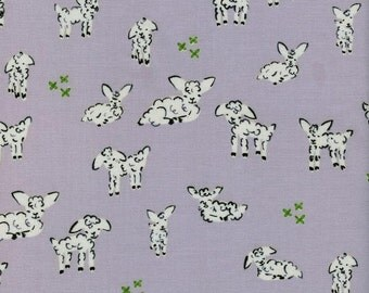 Clover - Little Lambs in Grey - Alexia Abegg for Cotton + Steel - 4025-4 - 1/2 yd