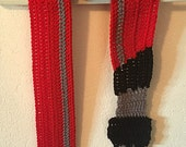 Crochet Darth Vader Lightsaber Scarf