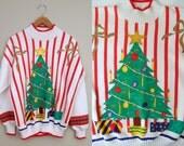 Striped Christmas Tree Sweatshirt