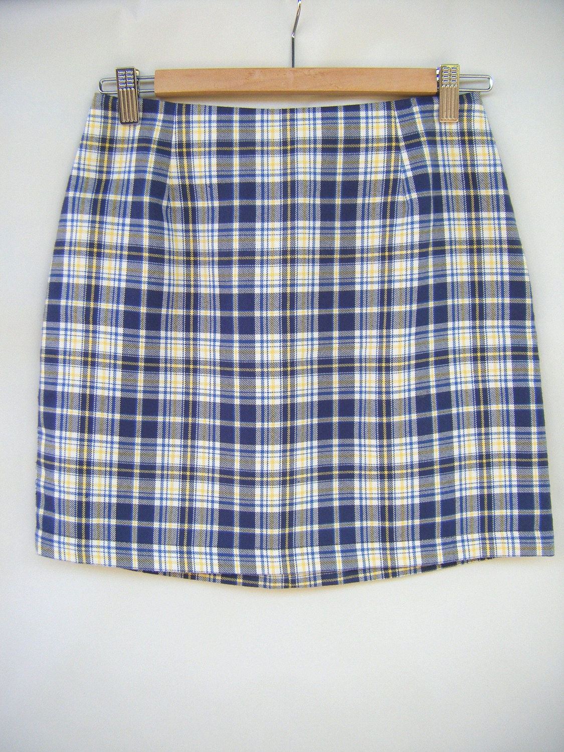 Yellow Plaid Mini Skirt 21