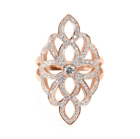 Sophia Lace Diamond Ring Diamond Skin Wide By