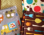 Kids Reusable Cloth Napkins- Set of Four