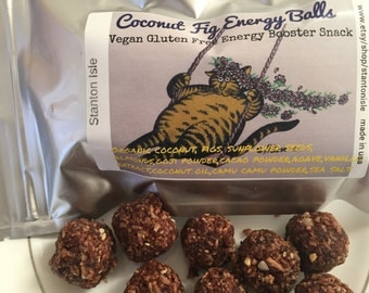 Coconut Fig Energy Balls Yummy Delicious  All Natural Gluten Free Snack Booster