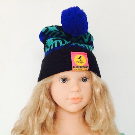 Vintage 6-12 Months Baby Bobble Hat Beanie Unworn Deadstock 90s Pom Pom