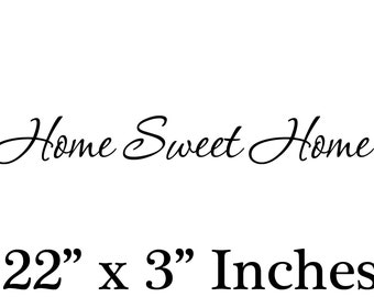 Home Sweet Home  Removable Wall Art Vinyl Decal sticker