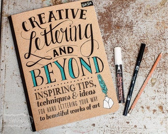 Creative Lettering Workbook and Kit