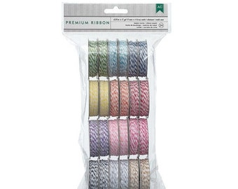 CLEARANCE SALE 24 Rolls of Brightly Colored Bakers Twine in 12 colors - 2 Spools Each Value Pack - 366303