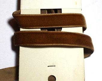 "Vintage  Velvet , 5/8"" x 2 yards Sienna - Rayon - France - 2 left"