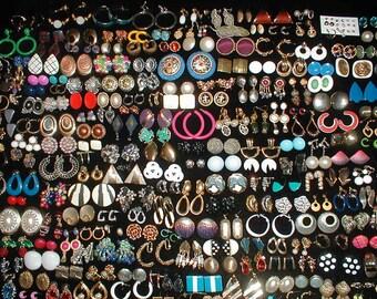250 Pairs Of Earrings *Wear*Share*Repurpose* Huge Lot *Rhinestones*Enamel*Sterling*