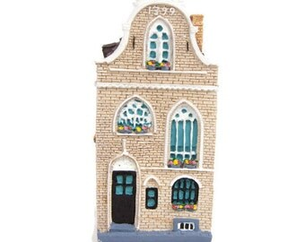 Vintage Miniature House Made in Holland Hand Painted Canal House Row House Dutch House