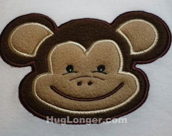 Applique Monkey embroidery file HL1067 zoo jungle animal