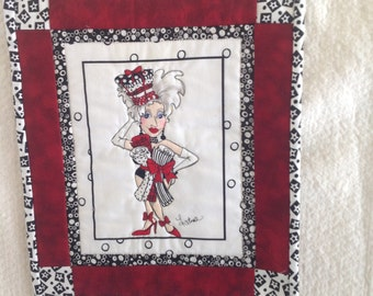 Mini quilted wallhanging/mat