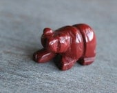 Red Jasper Bear Figurine F107