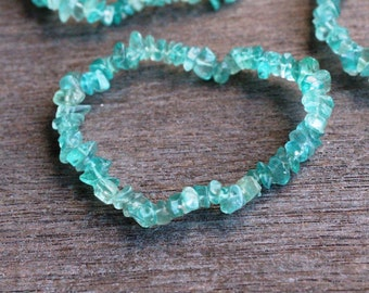 Blue Apatite Stretchy String Bracelet B129