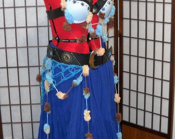 "The ""Tough Tassels"" Tribal Fusion/ ATS Costume Set, OOAK, Ready To Ship"