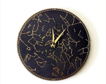 CIJ Sale, Wall Clock, Constellation Clock, Trending, Modern Wall Clock, Home and Living, Home Decor, Astrology, Astronomy Clock, Decor & Hou