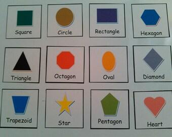Shape Magnets, Magnets for Kids, Preschool Magnets, Educational Magnets, Kids Magnets, Toddler Magnets, Preschool/Toddler Learning, Autism