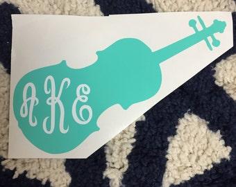 Violin Monogram Vinyl Decal