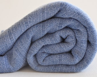 Bamboo Turkish Towel Peshtemal towel Peshtemal Stone washed Pure Soft Blue Towel